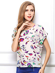 Women's Summer fashion breathable Retro chiffon T-shirt