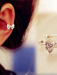 Ear Cuffs Imitation Diamond Alloy Bowknot Jewelry For Daily 1pc