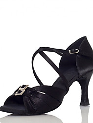 Zapatos de baile ( Negro ) - Salsa - No Personalizable - Tacón grueso