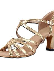 Женская обувь - Атлас - Номера Настраиваемый ( Коричневый ) - Латино