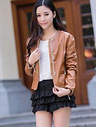 Women's PU Leather Motorcycle Jacket