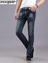 AOLONGQISHI® Men's Casual Pure Pant (Cotton/Denim) 698-1