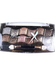 Bright 12 Colors Professional Dazzling Roast Eye Shadow Powder Metallic Shimmer