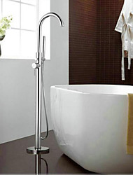 Free Standing Single Handle Bathroom Bathtub Faucet Single Bars Chrome Shower Floor Faucet