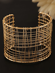 Women'sFashion Classic Hollow Out Mesh Wire Alloy Cuff With Bracelet