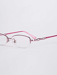 [Free Lenses]  Women 's Oval Half-Rim Reading Glasses