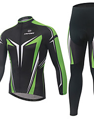XINTOWN® Cycling Jersey with Tights Men's Long Sleeve BikeBreathable / Quick Dry / Moisture Permeability / Reflective Strips / Back