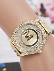 Women's Watch Quartz Watch Inner Frosted Diamond Alloy Steel Watch Cool Watches Unique Watches