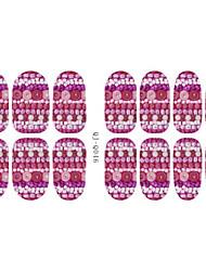 Fashion Flowers Luminous Nail Art Glitter Sticker