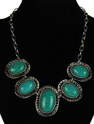 Women's Vintage Blue Resin Necklaces