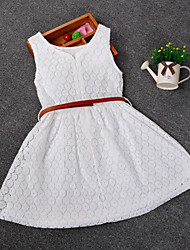 Kid Grils Fashion Sleeveless Cosplay Dress Summer Style Girl Lace  Dresses (Cotton/Blend) For SZ 2-6 Y
