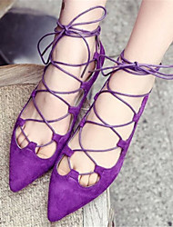 Women's Shoes Black/Purple Flat Heel 0-3cm Sandals (PU)