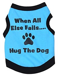 Cute Dog Footprint Pattern Vest for Pets Dogs (Assorted Colours and Sizes)