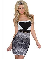 Women's Lace Embellished Cocktail Mini Dress