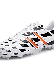 Soccer Men's Shoes Leather Black/White/Green