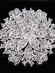 старинные женщин ясный кристалл горный хрусталь свадьба алмаз листьев брошь