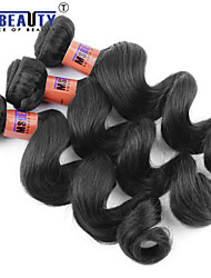 "3 Pcs /Lot 12""-24"" 8A Peruvian  Virgin Hair Loose Wave Hair Weft 100% Unprocessed Remy Human Hair Weaves"