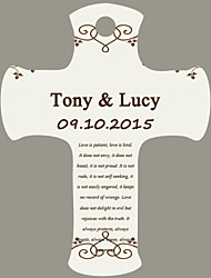 Personalized Cross Wedding Favor Tags - Blessing Design (Set of 36)