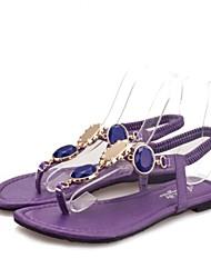 Women's Shoes Flat Heel Comfort Sandals Dress/Casual Purple/Red