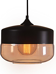 WestMenLights Vintage Modern Paint Glass Ceiling Lamp Pendant Light Black 250mm Diameter