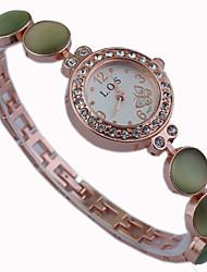 Women's little round crystal dial Sparkle band quartz bracelet wrist fashion  dress watch Cool Watches Unique Watches