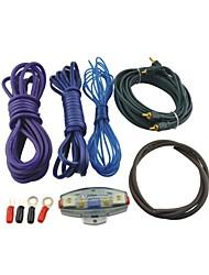 automóvil coche L801 kit de cableado del amplificador de audio RCA con portafusibles