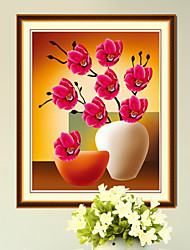 The New Three-Dimensional Diamond 5D Blooming Flowers Painted Living Room Wall Picture Stitch Paste Diy