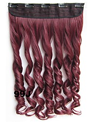 Body Wave Clip in Hair Extensions Hairpiece Synthetic Hair Extension