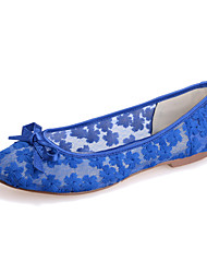 Women's Shoes  Flat Heel Round Toe Flats Wedding/Party & Evening Black/Blue/Pink/Ivory/White