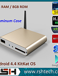 RSH Android 4.4 Quad Core Tv Box with 1GB/8GB Free Download Videos Wifi 3D Bluetooth Google Tv Box HDMI +Remote Control