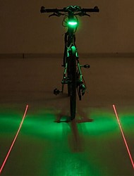Bike Lights / LED Light Bulbs / Rear Bike Light LED / Laser - Cycling Color-Changing / Warning AAA 400 Lumens Battery Cycling/Bike