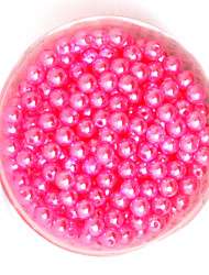 Beadia 100g(Approx 1000Pcs)  ABS Pearl Beads 6mm Round Hot Pink Color Plastic Loose Beads For DIY Jewelry Making