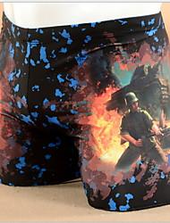 3D Printing Game Cs Flame Men's Boxer Swim Trunks