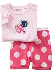 Children Kids Girls Bee Top & Dot Short 2-7 Years Pajama Set