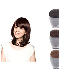 Natural said Clip In on Bangs Synthetic Hair Fringe for Women Black Brown