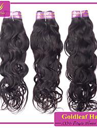 3pcs / lot brésilienne de cheveux naturelle vierge vague naturelle noir
