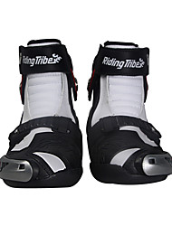 Men's Motorcycle Ankle Racing  Boots Protective Riding Shoes Black/Red/White