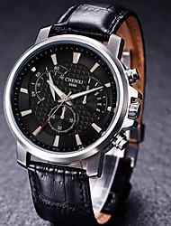 Correa de piel de alta calidad reloj de cuarzo resistente al agua Chenxi