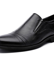 Men's Shoes Casual Leather Loafers Black