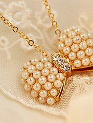 Fashion Small Pure Fresh Bowknot Pearl Necklace Collarbone Chain