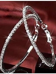 Viva Women's New Arrival Jewelry Popular Hot Selling Delicate Rhinestone Loop Earrings
