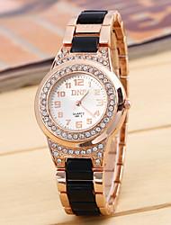 Senhoras e movimento de diamante pulseira de silicone tira de gel chinês relógio (cores sortidas)