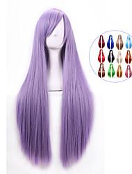 80 centimetri parrucche calore harajuku resistente anime cosplay giovani lungo rettilineo parrucca di capelli sintetici / parrucche per