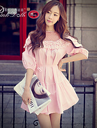 Pink Doll®Women's Round Neck Casual ½ Length Sleeve Loose Dress