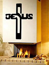 настенные наклейки наклейки, Иисус крест ПВХ наклейки