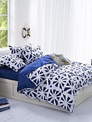 BAOLISI 3D Flower Print 4-Piece Duvet Cover Polyester Full Set Polyester Full