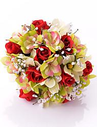 Свадебные цветы Круглый Розы Букеты Свадьба / Партия / Вечерняя Атлас 30 см