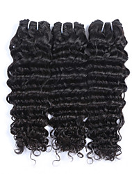 "3Pcs/Lot+10""-30""+Malaysian(Italian)Virgin Remy Hair+ color(natural black)+ Deep wave"