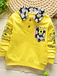 Boy's Fashion Leisure Printing Cotton Shirt