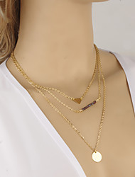 Wholesale Multilayer Necklace Choker Necklaces / Chain Necklaces Jewelry Golden Alloy Daily / Casual 1pc Gift